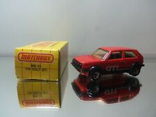 1983 Matchbox VW Volkswagen Golf GTi MB33 - Red - Mint Loose W/Box 1/58 Scale