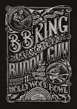 BB KING/BUDDY GUY - Hollywood Bowl 2010 Original Concert Poster Print