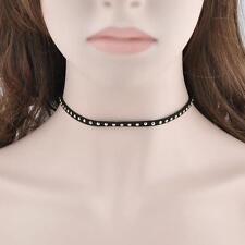 Women Chunky Retro Jewelry Chain Collar Rivet Choker Necklace