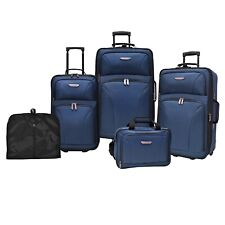 Traveler's Choice Ultimate 5-Piece Navy Expandable Luggage Tote Garment Bag Set