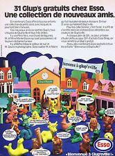 PUBLICITE ADVERTISING 114 1972 ESSO bienvenue à Glup'sville