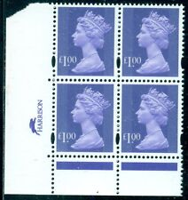 Great Britain Sg-Y1725, Scott # Mh-279 Cyl. Blk/4, Mint, Og, Nh, Great Price!