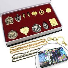 12PCS JoJo's Bizarre Adventure Necklace Pendant Cosplay Collectibles In Box