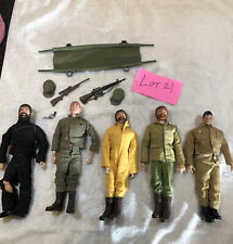 Vintage GI JOE lot 1960's 5 action figures and accessories Gun Clothing
