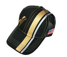 Mack Trucks Black & Gold USA Flag Patch Mesh Trucker Cap/Hat