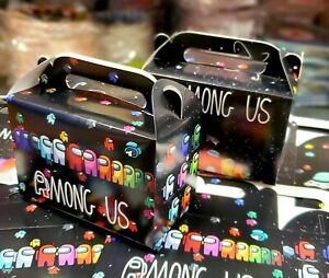 AMONG US GIFT BOX PARTY LOOT FAVOR CANDY BIRTHDAY SUPPLIES DECORATION SPACE