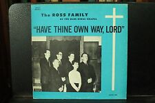 The Ross Family of the Blue Ridge Chapel rare lp album Christian gospel record