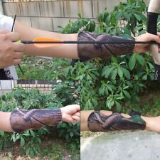 Tactical Hunter Shooting Archery Arrow Arm Guard Bow Protector 3 Straps Bracer