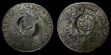 Russian 1655 Jefimok Double-Countermarked 1625 Prague Taler With Two Kopeck Dies