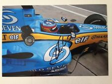 Fernando Alonso Hand Signed Autograph signature, Colour photo in Renault 13x18cm