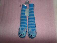 LILO AND STITCH - STITCH BLUE STRIPE DISNEY STORE SLIPPER SOCKS NEW - KIDS SIZE