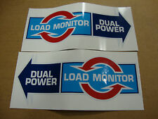 FORD TRACTOR LOAD MONITOR & DUAL POWER DECAL SET MADE FROM VINYL