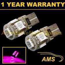 2x W5W T10 501 Canbus Libre De Errores ROSA 5 LED Luz Lateral Bombillas Faros