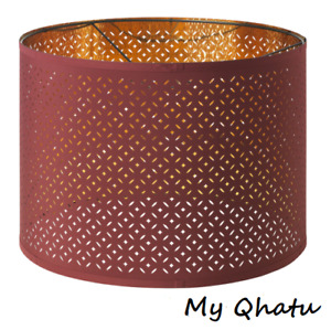 """Ikea NYMO Lamp Perforated Shade 17"""" Dark Red / Brass color New"""