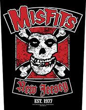 MISFITS - Rückenaufnäher Backpatch New Jersey