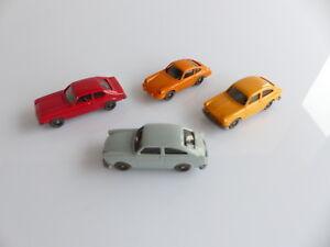 WIKING 4 VEHICULES DIVERS VW 1600 X 2 / PORSCHE 911 / FORD CAPRI 1/87 eme
