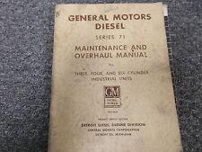 Detroit Diesel GM 3-71 4-71 & 6-71 Series 71 Overhaul & Service Repair Manual