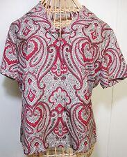 Jones New York Paisley Silk Blouse Womens 6