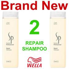 2 NEW WELLA SP REPAIR SHAMPOO,STRESSED HAIR TREATMENT,8.5 OZ./OUNCE BOTTLES
