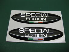 2 OVAL SPECIAL EDITION DOMED STICKERS ITALIAN FLAG