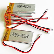 5 pcs 3.7V 560mAh Lipo Rechargeable Battery For Mp3 GPS MP4 PSP 602248 JST1.5mm