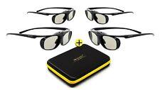 4x 3D Brille Black Heaven für Epson Beamer EH-TW6100 EH-TW6600 EH-TW6700 ELPGS03