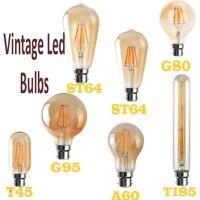 Dimmable Vintage Filament LED Edison Bulb E27 Decorative Industrial Light A+