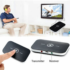Wireless Bluetooth Stereo Music Audio Adapter Transmitter and Receiver 2-in-1 US