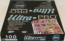 ULTRA PRO Hologram Pages 20 round pockets for pogs milk caps Lot of 10 brand new