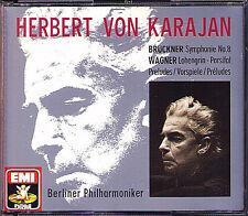 Karajan: Bruckner Symphony 8 Wagner Parsifal Lohengrin EMI 2cd Herbert de