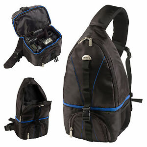 Grundig Camera Sling Bag Rucksack Backpack Compact Lense Adjustable Padding Gear