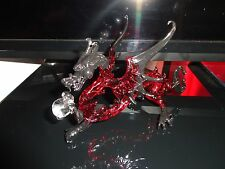 Dragon Red Black Figurine of Blown Glass Crystal
