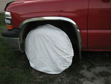 snow tire cover NOS USGI army white color jeep spare tire trailer military pack