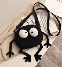 Cute Kawaii Funny black Pllush bag Cross-body shoulder  Bag Purse
