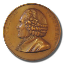 1778-1878 Jean Jaques Rousseau Centenary French Bronze Medal by Florian F.