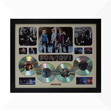 Bon Jovi Signed & Framed Memorabilia - 4 CD - Ivory - Limited Edition