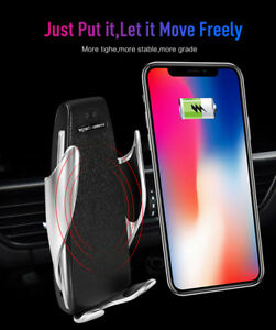 Automatic Clamping Wireless Car Charger Mount Air Vent Holder For Xiaomi LG Lots