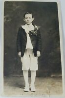 Small Art! Vintage Real Photo Post Card Albert Wearing Knickers AZO 1900's?