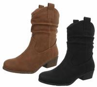 Stivaletti texani donna texanini bassi scarpe western stivaletti boots pelliccia