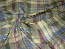 "~BTY~FABRICUT~FAUX SILK ""PLAID"" ~ DRAPERY UPHOLSTERY FABRIC FOR LESS~"