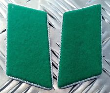 Genuine East German Forces Collar Tabs Green With Silver Borders DDR NVA - N