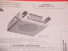 1960 MOTOROLA AM RADIO SERVICE MANUAL 310X 311X CHEVROLET FORD CHRYSLER DODGE