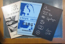 Lynne Savitt 6 Volumes Poetry Softcover Some signed and inscribed