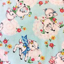 RPFCHE04D Japanese Vintage Style Sheep Lamb Retro Zakka  Cotton Quilt Fabric