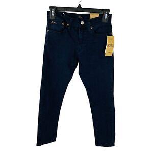 New Polo Ralph Lauren Boys 12 Sullivan Slim Skinny Jeans Navy Pants Blue NWT