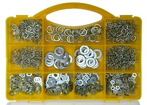 Brackit 1000 Piece Metal Washer Assortment Set – In Plastic Storage Case