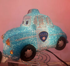 New Childrens Bedroom Decor EVA Night Light  Blue Police Car HS006