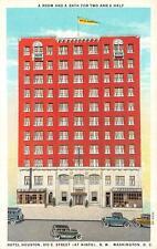 Washington, D.C.           HOTEL HOUSTON          c1920's Postcard