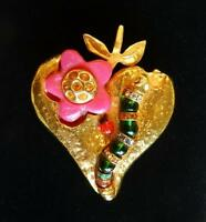 RARE!! Vintage KALINGER Brooch W/Catapillar, Lady Bug, Etc.Must See-Excellent!