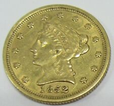 1852 US $2.5 Liberty Gold Quarter Eagle * Old US $2 1/2 Gold Coin
